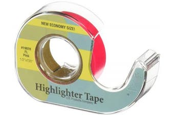 (Pink) - Lee Products Fluorescent Highlighter Tape .13cm x 1830cm
