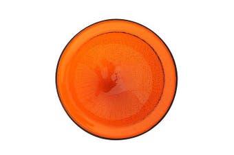 (mandarinorange, 12.5diam.x3hin.) - Achla CGB-06M Crackel Bowl - Mandarin