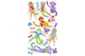 Sticko Sock Monkey Stickers