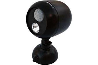 Dorcy 120-Lumen 180-Degree Wireless Motion-Sensor LED Flood Light with 4-Way Swivel Mounting Bracket and Hardware, Black (41-1071)