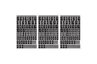 (Script Letters & Numbers) - Rub 'N' Etch Designer Stencils 13cm x 20cm 3/Pkg