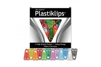 Baumgartens BAULP0600 Plastic Paper Clips- Large- Assorted Colours
