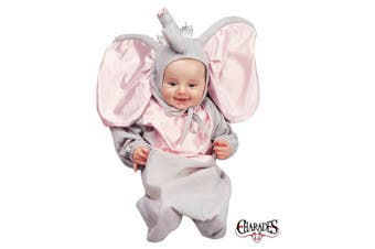 (0-6 Months, White / Black) - Charades Costumes 81031I Little Elephant Bunting Newborn Infant Costume