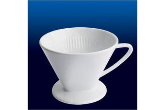 (No. 4) - Frieling Cilio Porcelain Coffee Filter Holders/Pour Overs, 4-Cup, White
