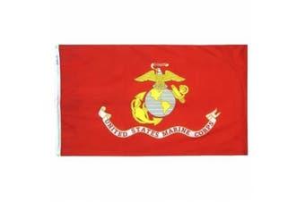 (0.6m by 0.9m) - Annin Flagmakers 439004 2 ft. x 3 ft. Nylon-Glo Flag - U.S. Marine Corps