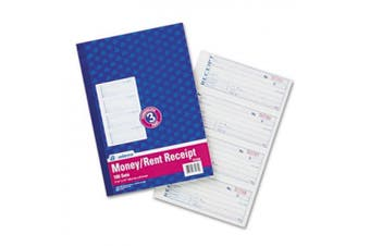 Adams Business Forms TC1182 Receipt Book 7 .63 x 11 Three-Part Carbonless 100 Forms