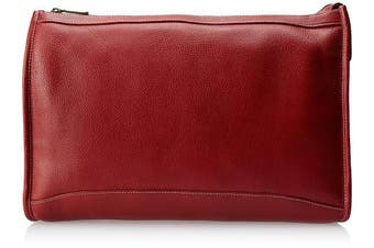 (Red) - Claire Chase 624E -red Zippered Folio Pouch - Red