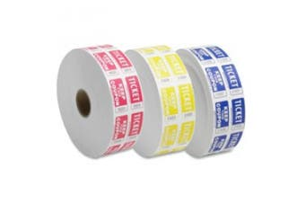 Sparco Products SPR99220 Ticket Roll- Double w-Coupon- 2000-RL- Red
