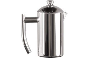 (240ml, Polished) - Frieling USA Double Wall Stainless Steel French Press Coffee Maker with Zero Sediment Dual Screen, Polished, 240ml