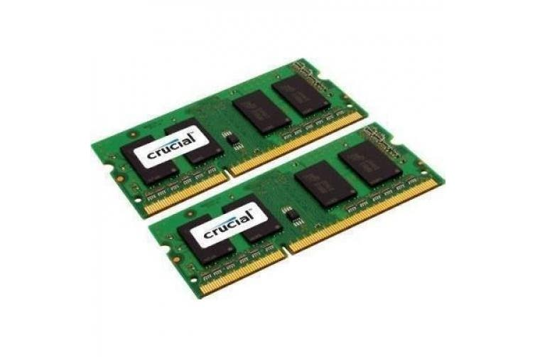 Crucial 8GB Kit for Mac (4GBx2) DDR3 1333 MT/s (PC3-10600) CL9 SODIMM 204pin 1.35V/1.5V for 2011