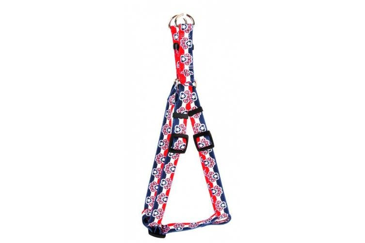 Yellow Dog Design SI-PP101S Patriotic Paws Step-In Harness - Small