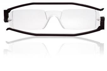 (black, strength2) - Nannini Compact One Reading Glasses Black Temples Optics 2.0