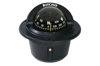 (Black) - Ritchie F-50 Explorer Compass - Flush Mount - Black