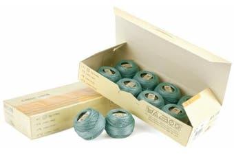 (Medium Blue Green) - DMC 116 12-503 Pearl Cotton Thread Balls, Medium Blue Green, Size 12
