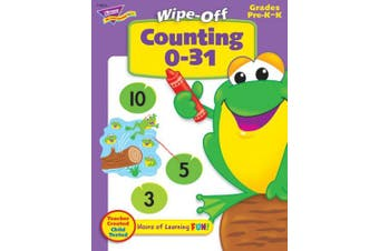 Trend Counting 0 to 31 Wipe-off Book Learning Printed Book