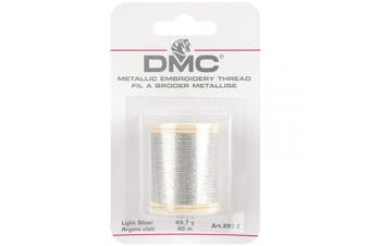 (Light Silver) - DMC Metallic Embroidery Thread 43.7yd