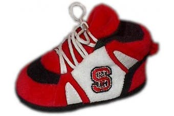 (North Carolina State Wolfpack) - Comfy Feet - NCS03PR - NC State Wolfpack Baby Slipper - Newborn to 9 Month