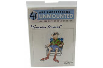 Art Impressions I1240 Art Impressions Golden Oldies Cling Rubber Stamp-Norm