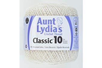 (1 Pack, Antique White) - Aunt Lydia's Classic Crochet Thread Size 10