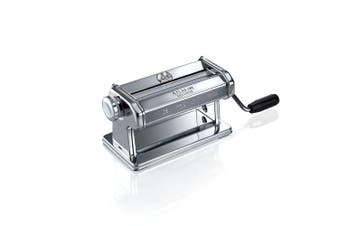(Wide Pasta Roller, 180mm) - Marcato Atlas Pasta Roller, Includes Extra Wide 180-Millimetre Pasta Roller with Hand Crank and Instructions