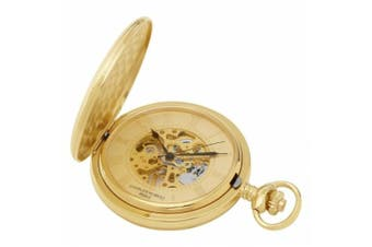 Charles-Hubert- Paris 3861-G Gold-Plated Mechanical Pocket Watch - Gold