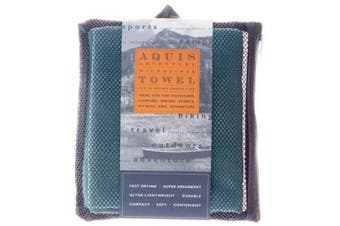 (Medium, Green) - AQUIS - Adventure Microfiber Sports Towel, Quick-Drying Comfort Great for Gym, Travel or Camping