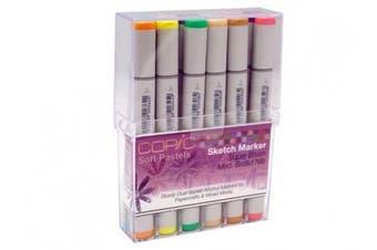 (Soft Pastels) - Copic SSTAMP12P 12-Colour Pastel Starter Sketch Marker Set