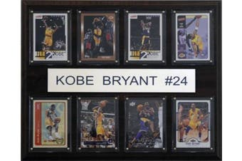C and I Collectables 1215KOBE8C NBA Kobe Bryant Los Angeles Lakers 8 Card Plaque