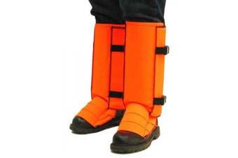 (Large, Blaze Orange) - Crackshot Men's Snake Bite Proof Guardz Gaiters
