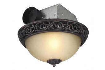 Craftmade TFV70L-AIORB Artisan Scroll Grill Flush Mount Light with Fan in Oil Rubbed Bronze