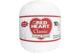 (White) - Coats - Crochet& Floss 477611 Red Heart Classic Crochet Thread Size 10-White