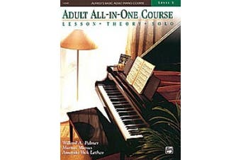 Alfred 00-14540 Basic Adult All-in-One Piano Course- Book 3 - Music Book