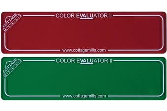 (Red) - Cottage Mills 88153 Colour Evaluator II -Red & Green filter