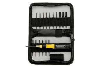 General Tools 63518 Eighteen-Piece Precision Screwdriver Set