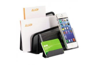 (Letter and Card Stand) - Allsop DeskTek Series Letter Sorter and Business Card Stand with Clingo Technology for Mobile Devices (30642)