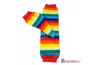 (Rainbow Brite) - Wrapables Stars, Stripes, and Solids Colourful Baby Leg Warmers