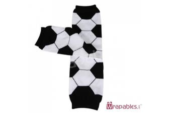 (Soccer) - Wrapables Animals and Fun Colourful Baby Leg Warmers