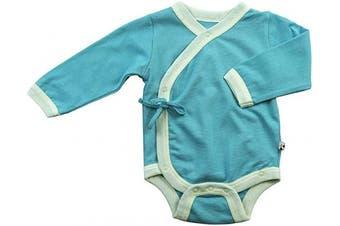 (6-12 Months, Tea) - Babysoy Kimono Onesie