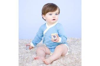 (12-18 Months, Ocean) - Babysoy Kimono Onesie