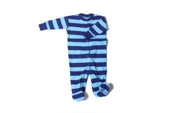 (3 Months, Stripes) - New Jammies Baby-Boys Newborn Front Closure Romper