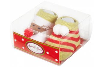 (0-3 Months, Multi) - Country Kids Baby-girls Newborn Dashing Through The Snow Booties
