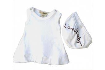 (Newborn, White) - L'ovedbaby Baby-Doll Dress