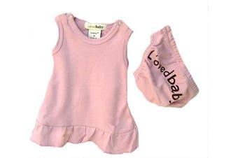 (Newborn, Pink) - L'ovedbaby Baby-Doll Dress