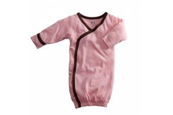 (0-3 Months, Petal/Chocolate) - Baby Soy Kimono Bundler (0-3M, Petal/Chocolate)