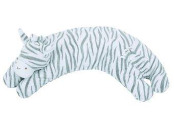 (One Size, Grey Zebra Stripe) - Angel Dear Curved Pillow, Grey Zebra Stripe