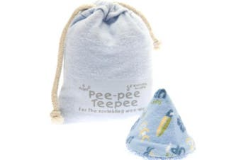 (Surfing Blue) - The Peepee Teepee for the Sprinkling WeeWee: Football in Laundry Bag