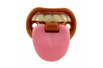 Billy Bob Teeth Baby with Attitude- Born to Be Bad - Tongue Pacifier