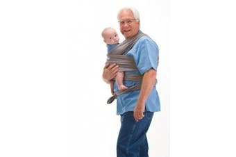 (Gray) - Boba Wrap Baby Carrier, Grey - Original Stretchy Infant Sling, Perfect for Newborn Babies and Children up to 16kg