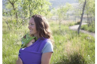 (Purple) - Boba Baby Wrap Purple - The Original Child and Newborn Wrap, Perfect for Infants and Babies Up to 16kg