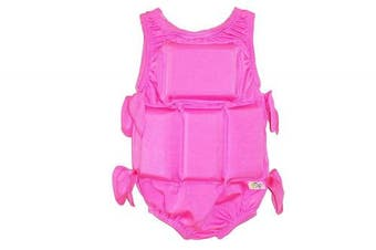 (Medium, Solid Pink) - My Pool Pal Girl's Flotation Swimsuit